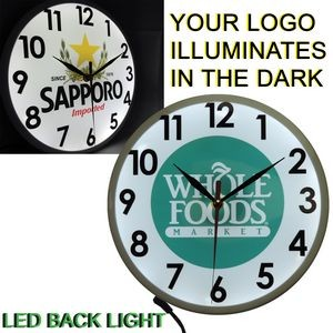 Full Color Wall Clock with Full LED Back Light